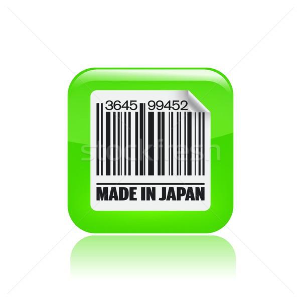 Япония икона печать рынке чернила азиатских Сток-фото © Myvector