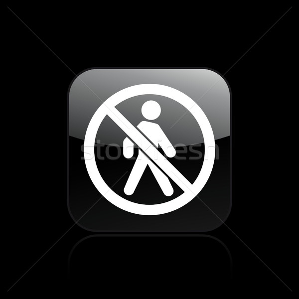 Accès interdit icône marche Photo stock © Myvector