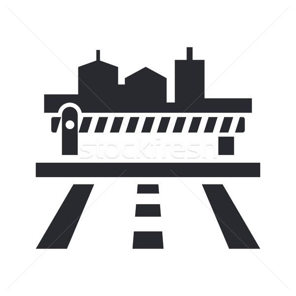 ícone estrada cidade mapa bar maneira Foto stock © Myvector