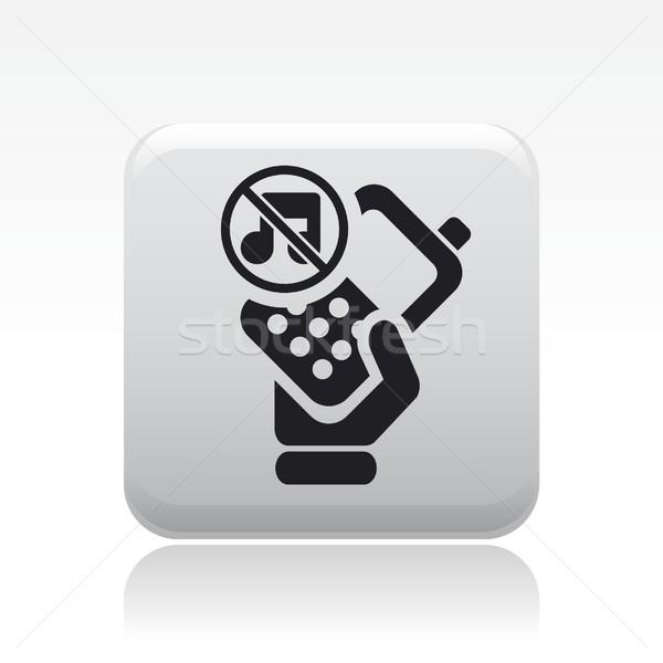 Néma telefon ikon audio Stock fotó © Myvector