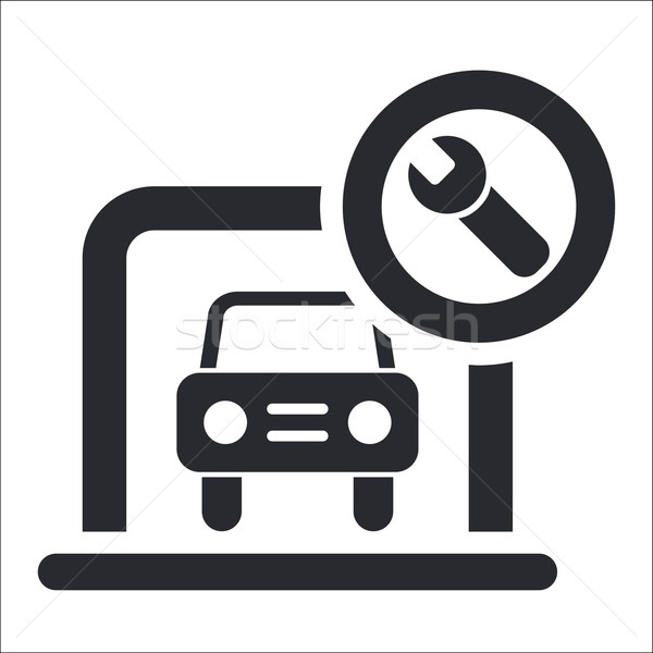 Garázs ikon doboz parkolás raktár Stock fotó © Myvector