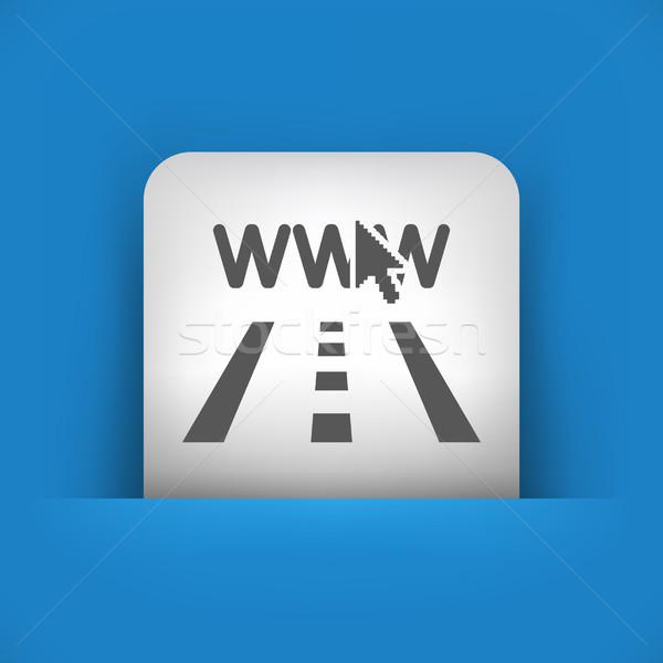 Bleu gris icône route ville carte Photo stock © Myvector