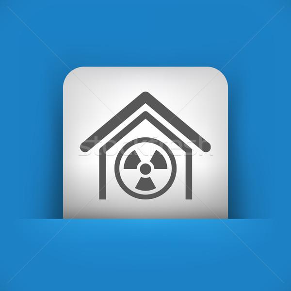 Azul gris icono edificio Foto stock © Myvector