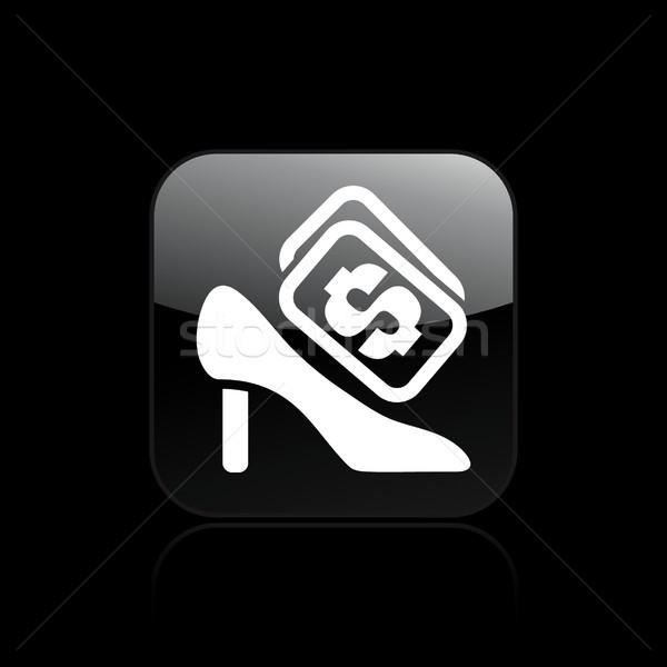 обуви цен икона рынке магазине женщины Сток-фото © Myvector