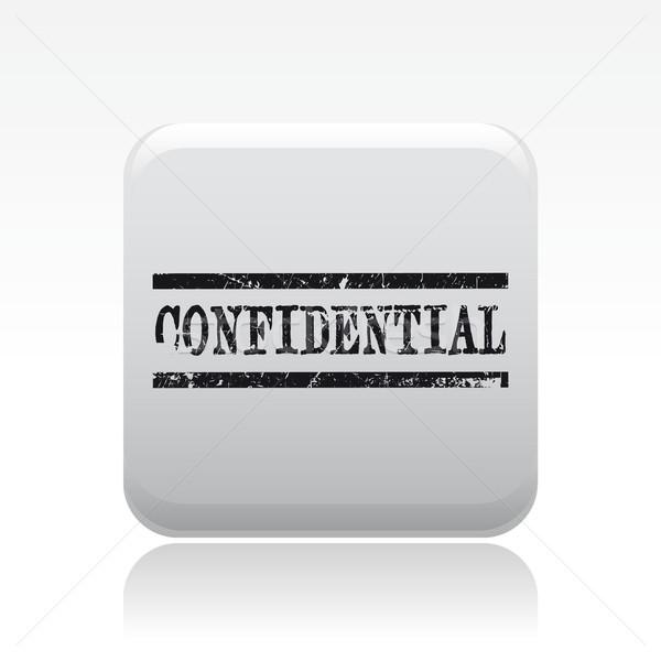 конфиденциальный штампа икона Сток-фото © Myvector