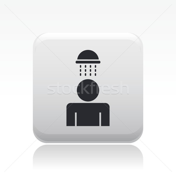 Douche icon water concept Stockfoto © Myvector