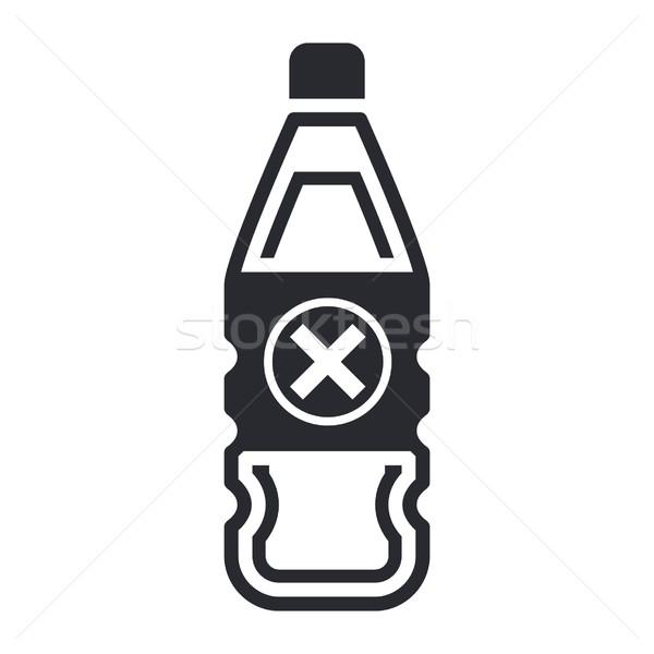 Peligroso botella icono líquido contaminación etiqueta Foto stock © Myvector