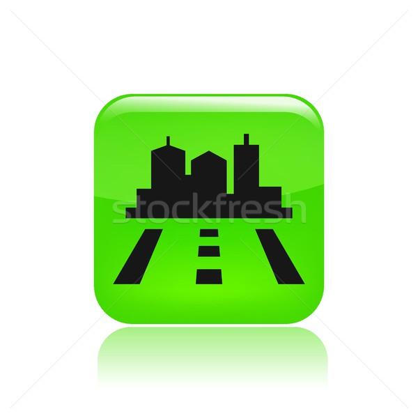 Yol şehir ikon harita yol yön Stok fotoğraf © Myvector