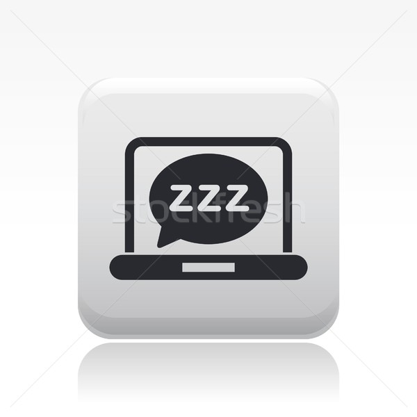 Sleep computer icon Stock photo © Myvector