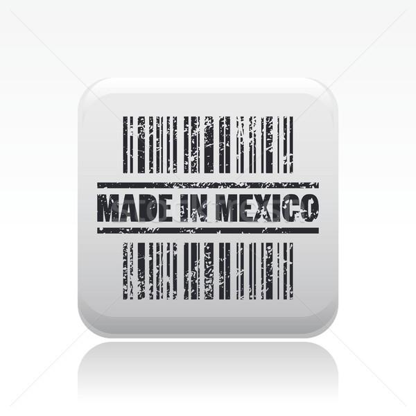 Мексика икона рынке Label штрих нуля Сток-фото © Myvector
