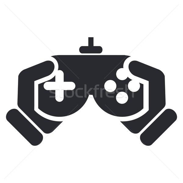Video game icon home spelen spel spelen Stockfoto © Myvector