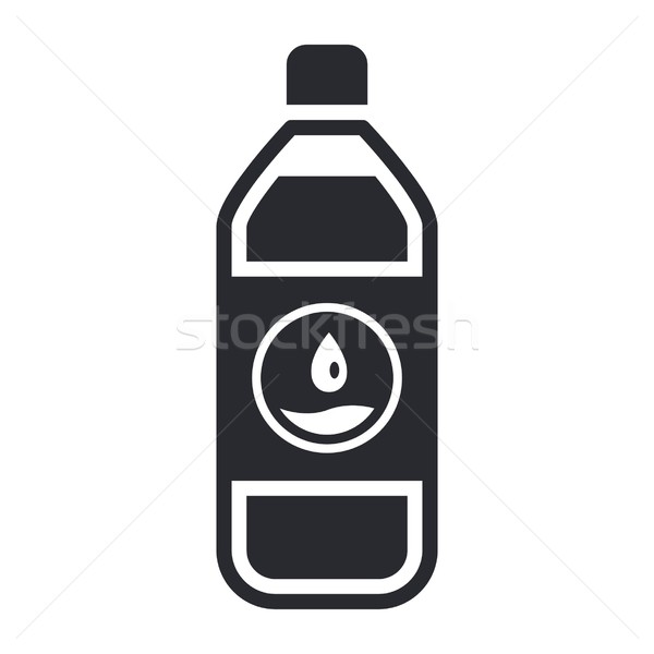 Veldfles icon water vloeibare label Stockfoto © Myvector