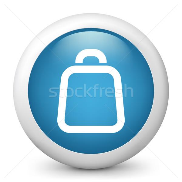 синий икона торговых Сток-фото © Myvector