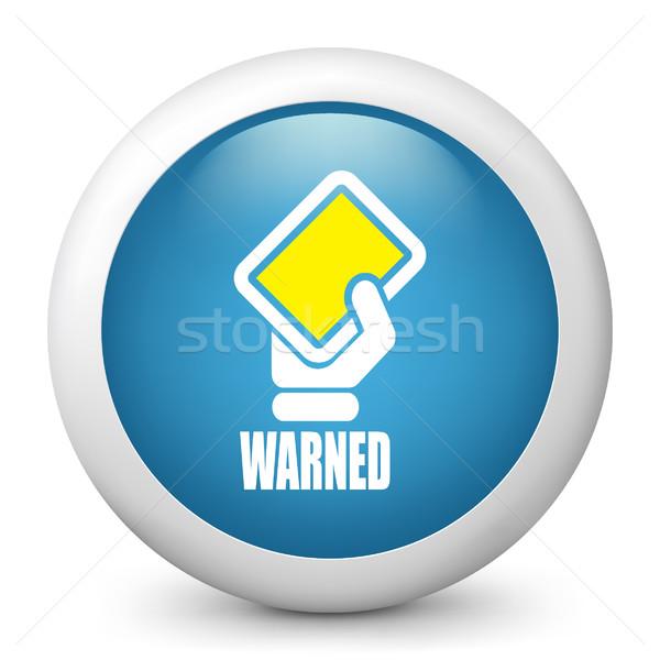 Azul ícone apoiar amarelo mostrar Foto stock © Myvector
