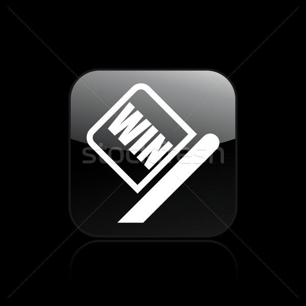 Przylot wyścigu banderą ikona sportowe kubek Zdjęcia stock © Myvector