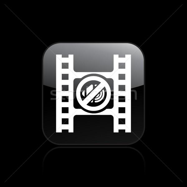 Kısmak video ikon film düğme ses Stok fotoğraf © Myvector