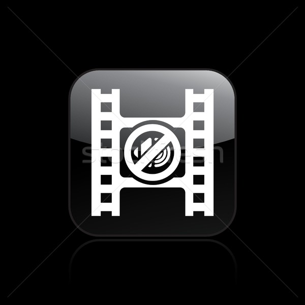 Néma videó ikon film gomb audio Stock fotó © Myvector