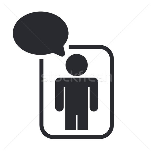 Stockfoto: Icon · ontwerp · netwerk · vriend · chat