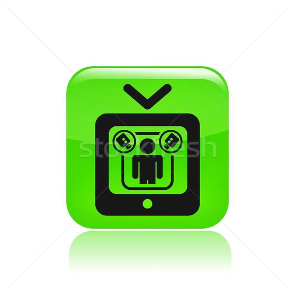 реальность телевизор икона дизайна домой сеть Сток-фото © Myvector
