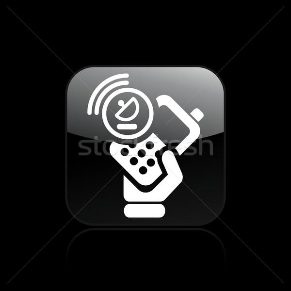 Satellite phone icon Stock photo © Myvector