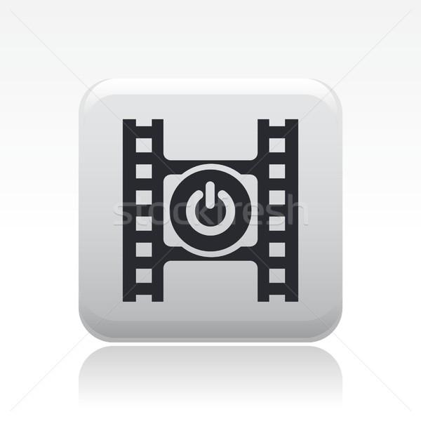 Сток-фото: видео · переключатель · икона · фильма · кнопки