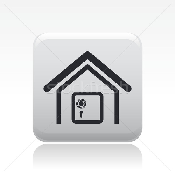 Modern single icon depicting a strongbox in a house Stock photo © Myvector