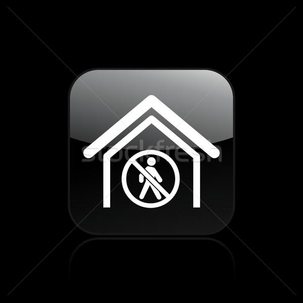Tilos ikon otthon sétál izolált illusztráció Stock fotó © Myvector