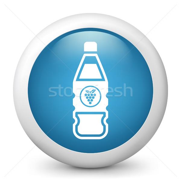 Kék fényes ikon gyümölcs Stock fotó © Myvector