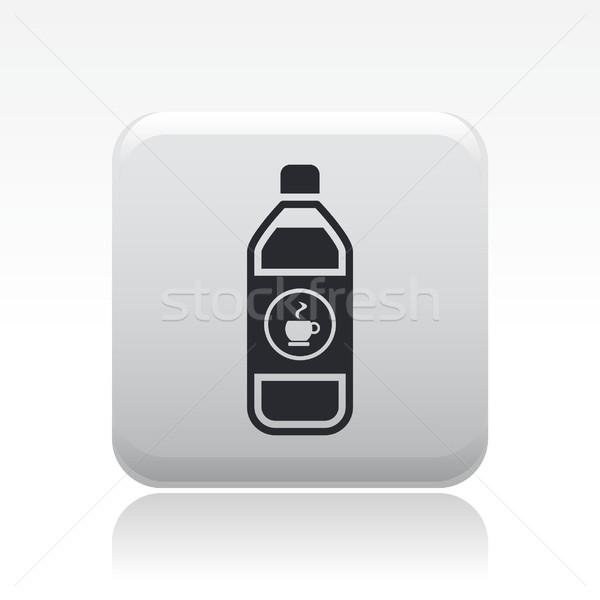 кофе бутылку икона Сток-фото © Myvector