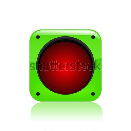 Сток-фото: зеленый · светофора · икона · начала