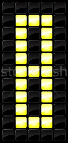 Troosten scorebord aantal icon sport stijl Stockfoto © Myvector