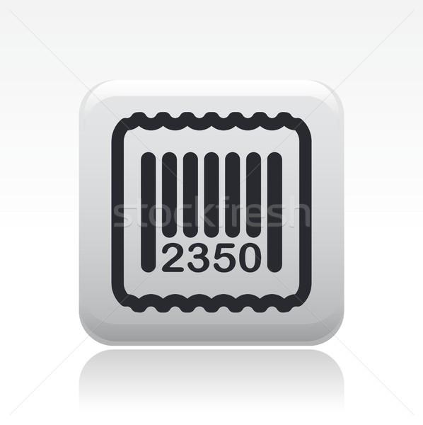 Barcode icon markt kaart label code Stockfoto © Myvector