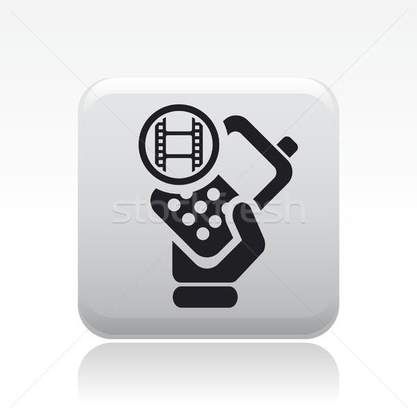 Video phone icon Stock photo © Myvector