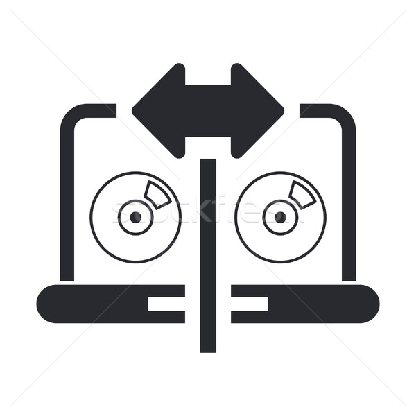 Cd copy icon Stock photo © Myvector