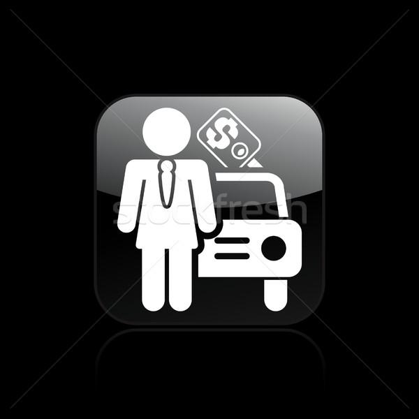 Girl car seller icon Stock photo © Myvector