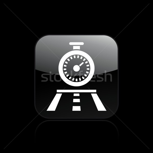 Timing race icon pad racing track Stockfoto © Myvector