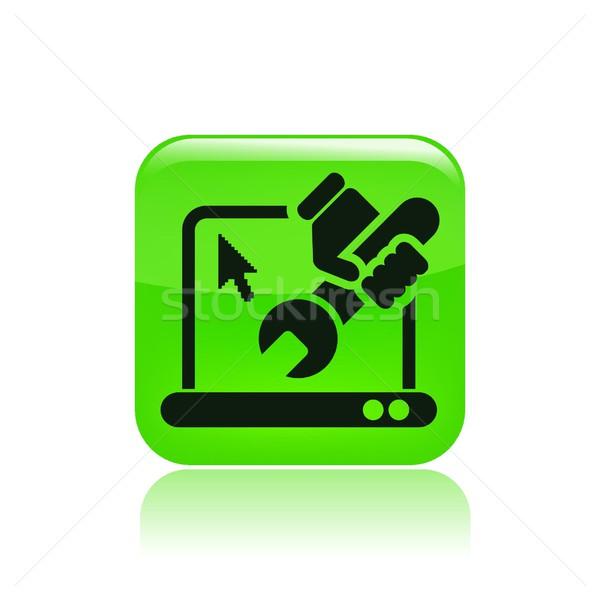 Computer icon laptop reparatie geïsoleerd Stockfoto © Myvector