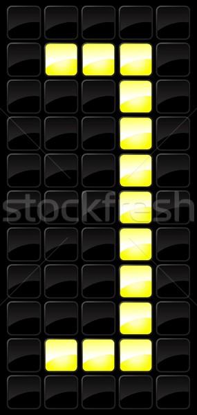 Sayı tahtası ikon sayılar stil ampul numara Stok fotoğraf © Myvector