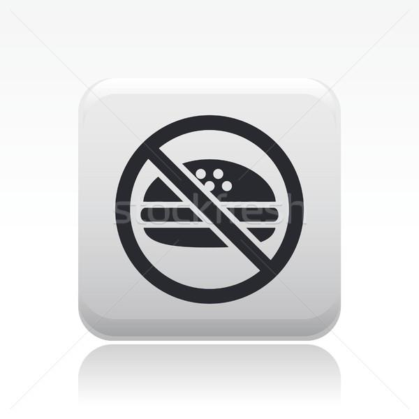 Proibido comida ícone isolado Foto stock © Myvector