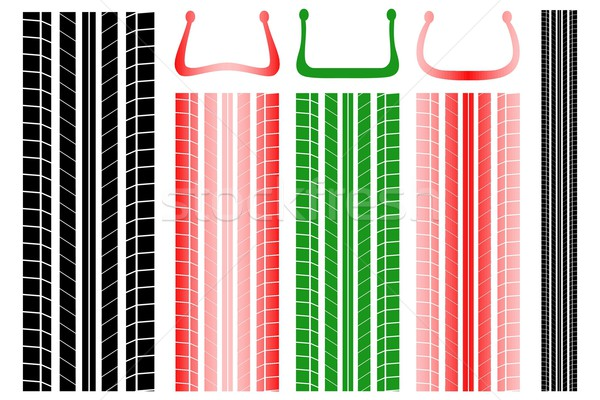 Tire tracks with information on the proper pressure Stock photo © Myvector