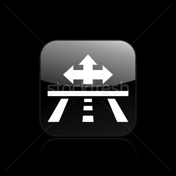 Road direction icon Stock photo © Myvector