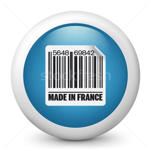 Stock foto: Blau · glänzend · Symbol · Markt · Verkauf · Label
