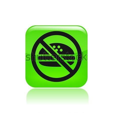Forbidden smoking single icon  Stock photo © Myvector