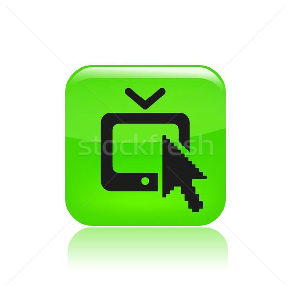 Háló tv ikon film keverő WWW Stock fotó © Myvector