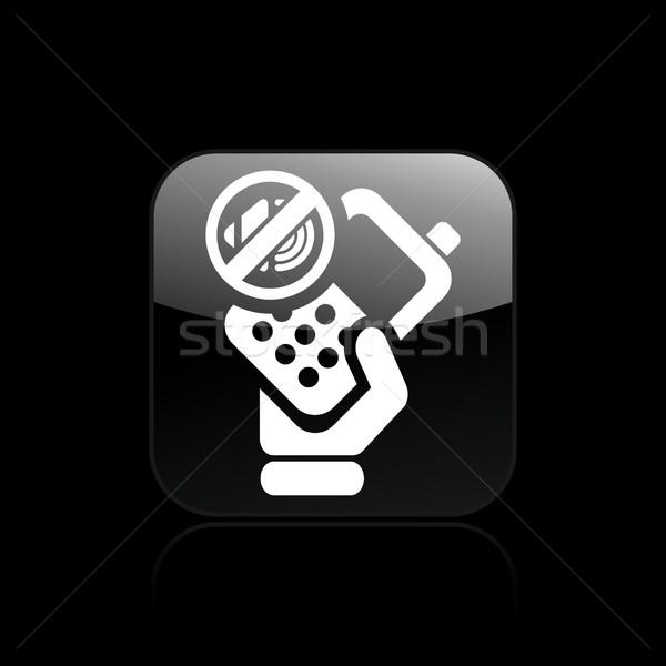 Telefon kısmak ikon telefon Stok fotoğraf © Myvector