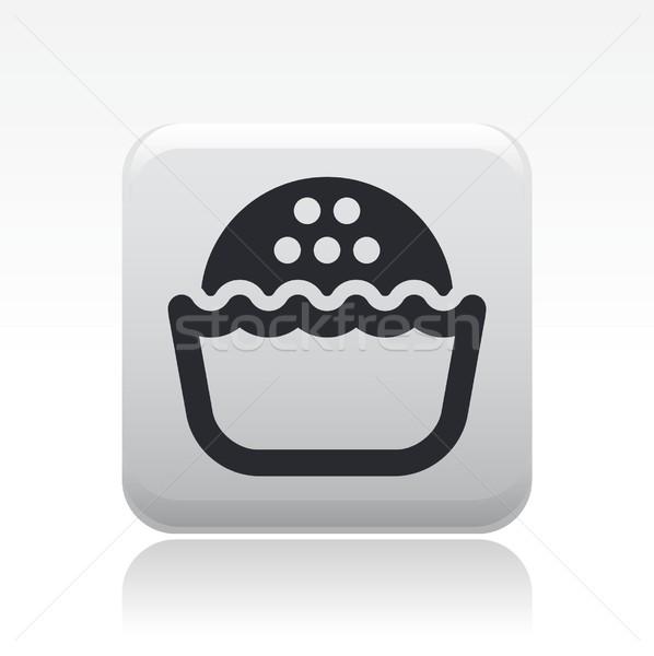 Tatlı ikon gıda kek kekler Stok fotoğraf © Myvector