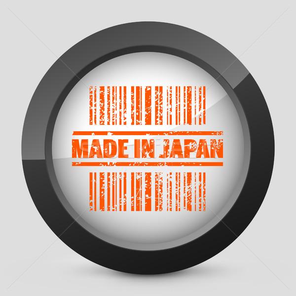 Elegáns narancs fényes ikon ipar nyomtatott Stock fotó © Myvector