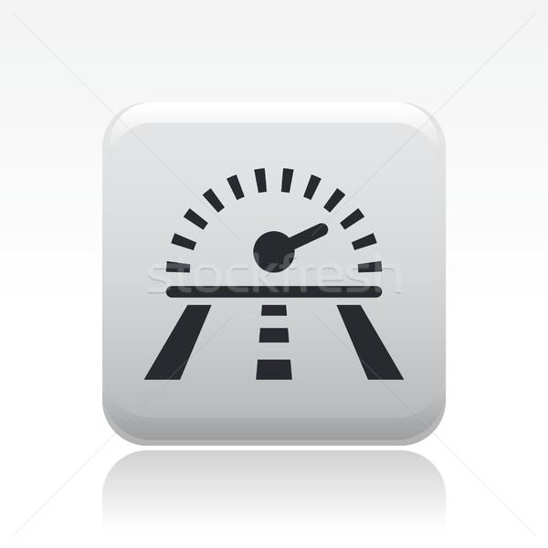 гонка скорости икона дороги спортивных пути Сток-фото © Myvector