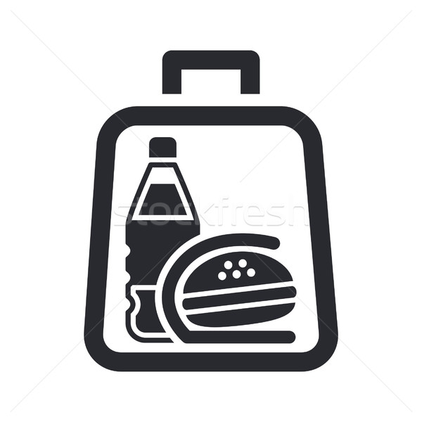 Stockfoto: Icon · sandwich · drinken · zak