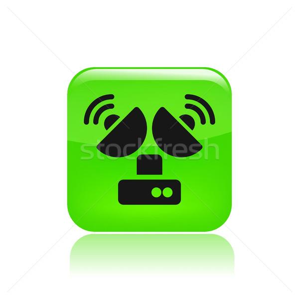 Anten ikon televizyon dizayn Stok fotoğraf © Myvector